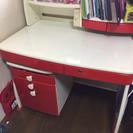 学習机❤️【赤】回転式椅子つき