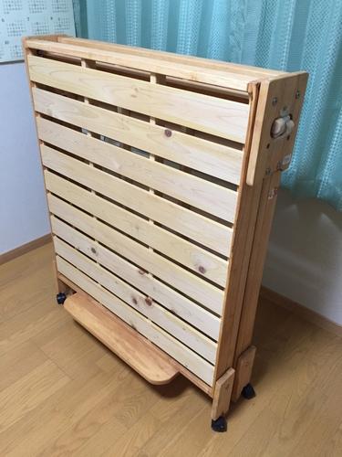 値下げ!! 美品 中居木工 すのこベット シングル 檜材 折畳式 (paulll