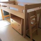 【交渉中】ロフトベッド/システムベッド 下段は物置等に有効活用!