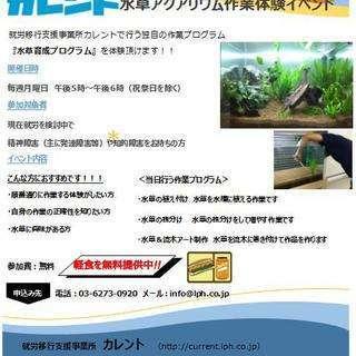 (新宿)11月開催‼精神障がい・知的障がいのある方限定!水草アクア...