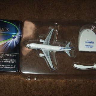 【配達可:新品未使用】飛行機模型(3個まで)LCC エアプサン(釜...