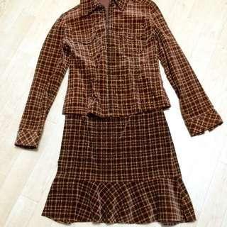 値下げ ミッシェルクラン  ジャケット+スカート