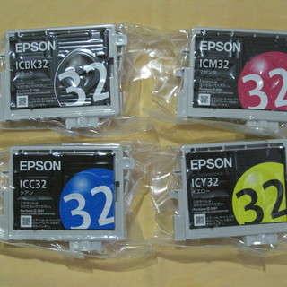 【使用期限切れ】EPSONプリンタ純正インク32 【4色】