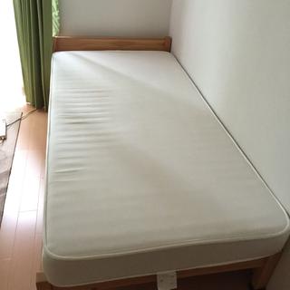 無印良品 パイン材シングルベッド マットレス付き