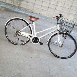 白の一文字自転車引き取りに来て下さる方に