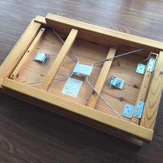 MUJI 無印良品 パイン材テーブル・折りたたみ式 80×50×70cmの画像