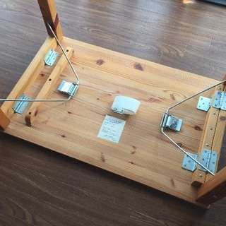 MUJI 無印良品 パイン材テーブル・折りたたみ式 80×50×70cm - 名古屋市