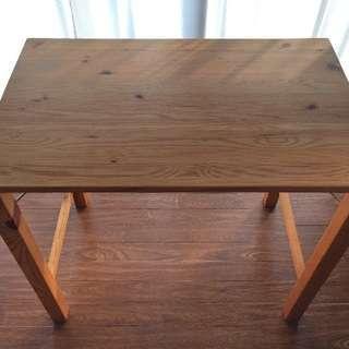 MUJI 無印良品 パイン材テーブル・折りたたみ式 80×50×70cm - 家具