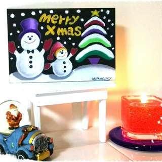 黒板で「世界に1枚だけのクリスマスカードを描こう!」