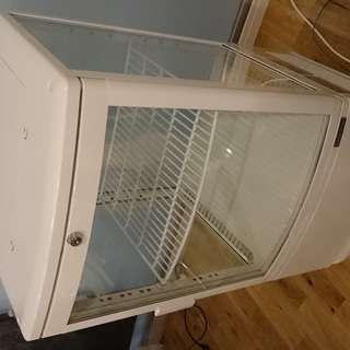 レマコム 4面ガラス 冷蔵ショーケース 冷蔵庫 小型 前開きタイ...