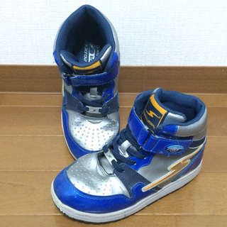🔷SUPERSTARスノトレ 20センチ シルバー/ブルー