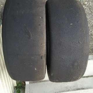195 55 15 2本 スリックタイヤ 環状 スタンス シビック
