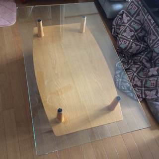 値下中★ガラステーブル★リビングダイニングローコーヒー