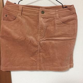 コーデュロイのミニスカート
