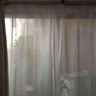 1級防音・遮光2枚組カーテン、2セット