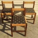 背凭れ付き和風の椅子3個セット
