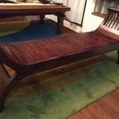最高級品 マホガニー無垢材 カルティニベンチアジアン家具 長椅子