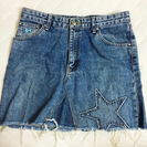 WEGO 星柄デニムスカート M〜Lサイズ