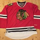 NHL シカゴブラックホークス アイスホッケージャージLサイズ