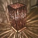 木製の照明(電球付き)