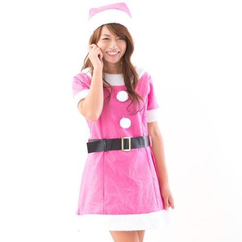 c58d1a1592281 新品 クリスマスだ!レディースサンタコスプレ!なんとピンク、水色、黒 ...