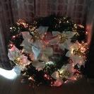 クリスマス 光るリース 光の色が変わります!40cm - 箕面市