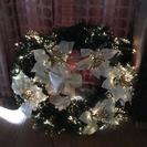 クリスマス 光るリース 光の色が変わります!40cm - 売ります・あげます