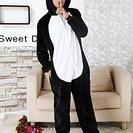 新品 黒ぶた着ぐるみ 黒ぶたパジャマ ハロウィン コスプレ仮装 ...
