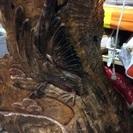 縁起もの鷹の彫り物
