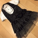 ❤️メイド 編み上げベスト リボン スカート セット