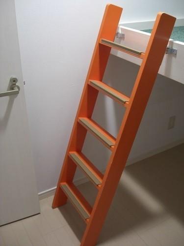 中古】木製ハシゴ、室内二段ベッド用、フック金具 (hidechan) 北参道の