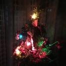 クリスマス ウッドデコツリーライト付き 超かわいい!
