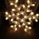 クリスマス 雪だるま 雪の結晶イルミネーション 2セット