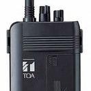 【新品・未使用】ワイヤレスガイド携帯型送信機・TOA(WM-1100)