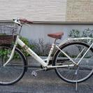 『年末セール』26インチ自転車 白