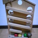 木の玉をころがすおもちゃ、ハウスクーゲルバーン(ドイツ製)譲ります