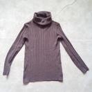 茶色タートルネックセーター(女性用) 中古
