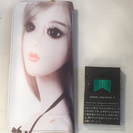 春財布☆可愛い女の子イラストのラウンド長財布