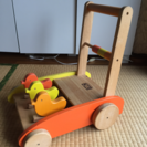 カタカタ 木製手押し車