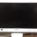 テレビ26型 SHARP AQUO ホワイト