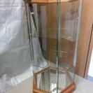 ★オシャレな面取りガラスケース 棚ガラス2枚付き