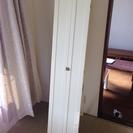 B-COMPANY 希少な扉付き姿見ミラー ホワイトポリウレタン塗装
