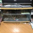 キャスター付きのテレビの台(天板と底板のサイドは塗装など必要)