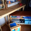 DIY  作業台  キャスター付きサブ机  キャスター付き椅子