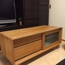 【北欧家具】タモ無垢材のテレビボード「格安」でお譲りします♪
