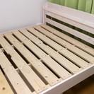 セミダブルのすのこベッド(ピンクっぽい白)あげます
