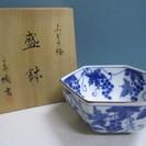 【たち吉】盛鉢◆深鉢◆ぶどう絵◆葡萄◆六角◆橘吉◆未使用品