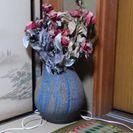 大きな花瓶、壺④青系