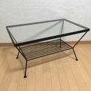 unico ウニコ EDDY リビングテーブルS アイアン ガラス天板