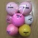 【美品】カラーロストボール 混合  12個 ゴルフボール